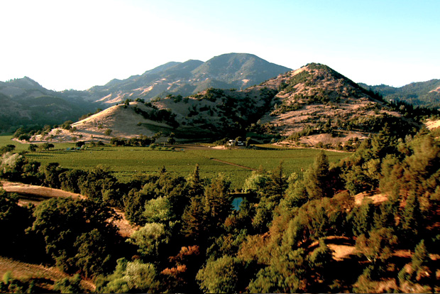 Aerial View of Montelena and Mt St Helena