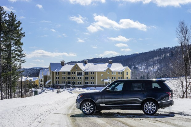 The 2015 Range Rover at Okemo Mountain Resort.