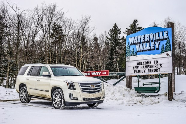 A Cadillac Escalade is the perfect on-mountain ride