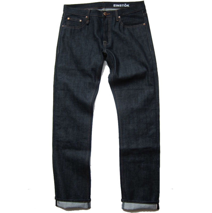 RedSelvageSlim Einstock motorcycle jeans