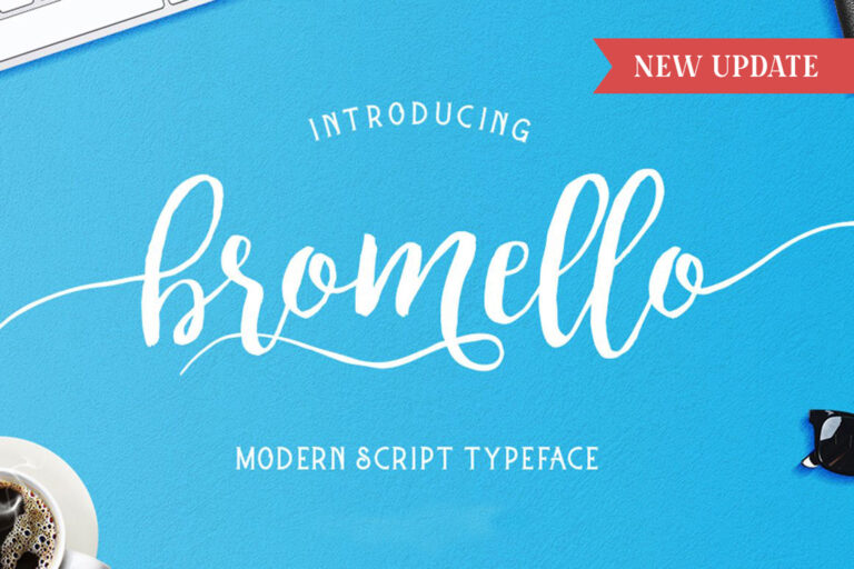 Preview image of Bromello typeface