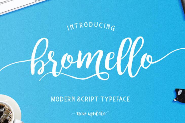 picture of bromello font