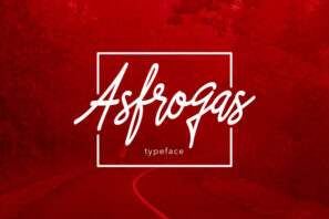 Asfrogas Typeface