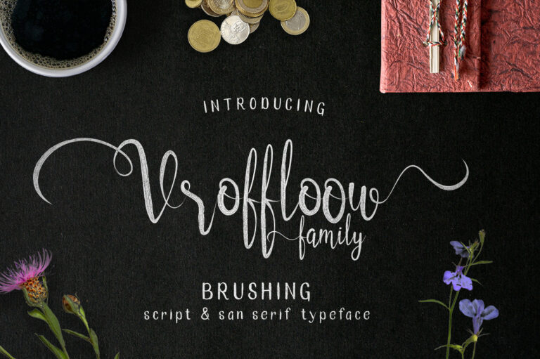 Preview image of Vroffloow family Typeface