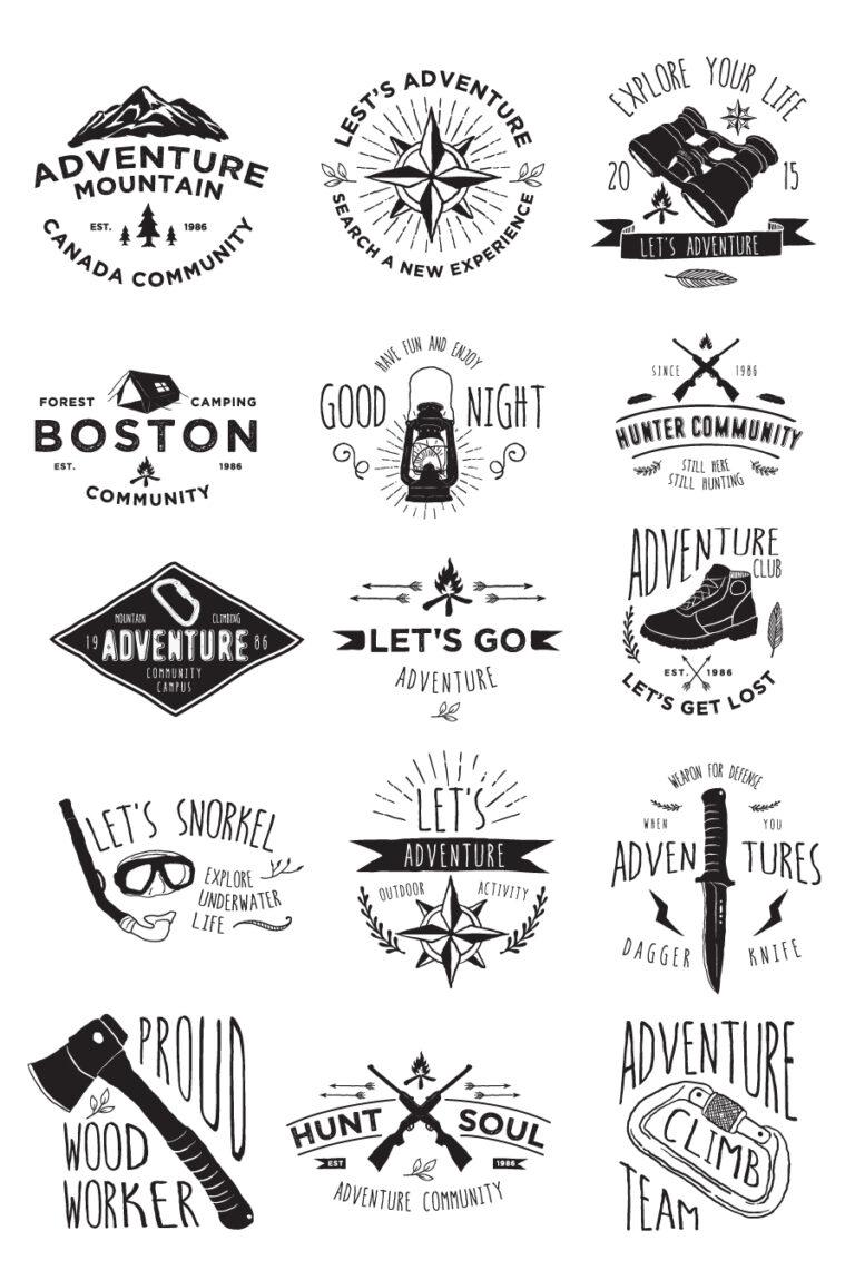 15 Adventure Badges