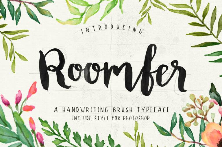 Preview image of Roomfer font + Style Photoshop