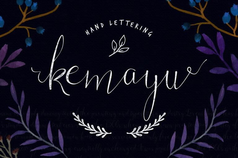 Preview image of Kemayu Hand Lettering + Vector Bonus