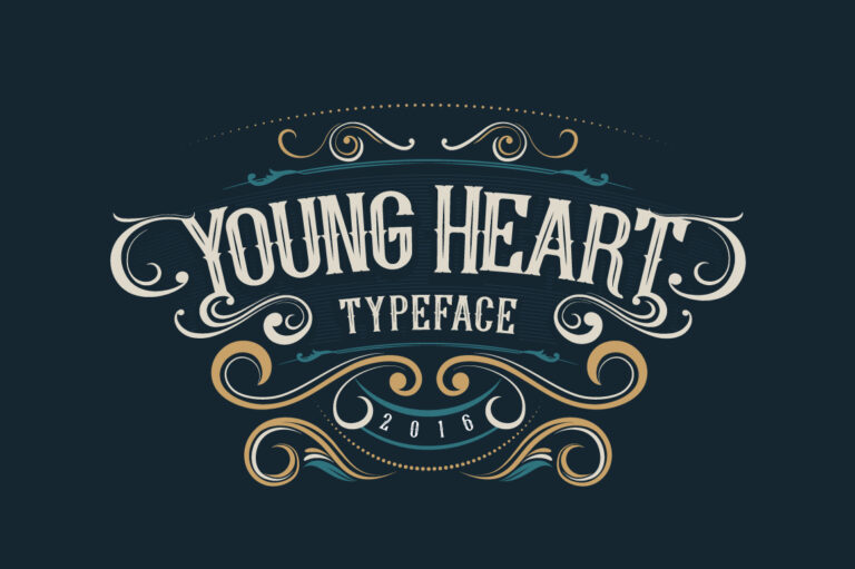 Preview image of Young Heart Typeface