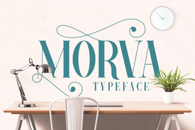 Preview image of MORVA Typeface