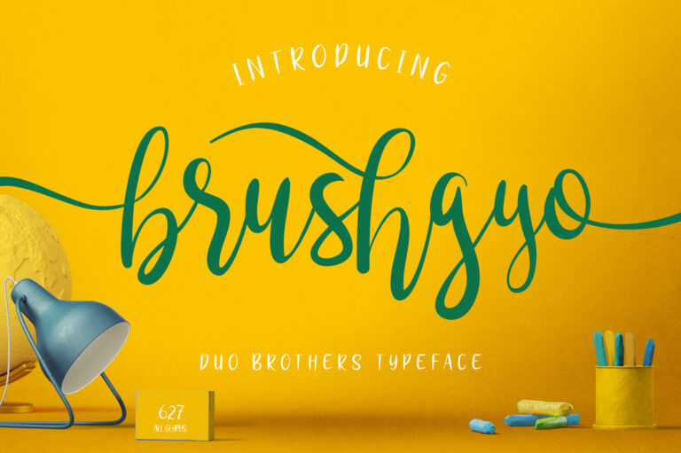 Preview image of brushgyo typeface