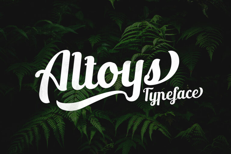 Preview image of Altoys Typeface