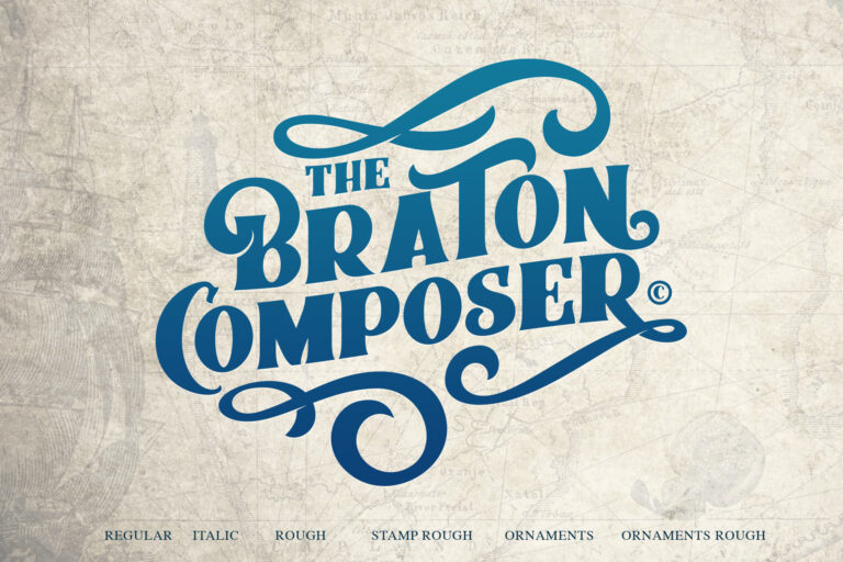 Preview image of Braton Composer Typeface
