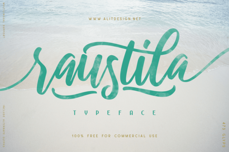picture of raustila free font