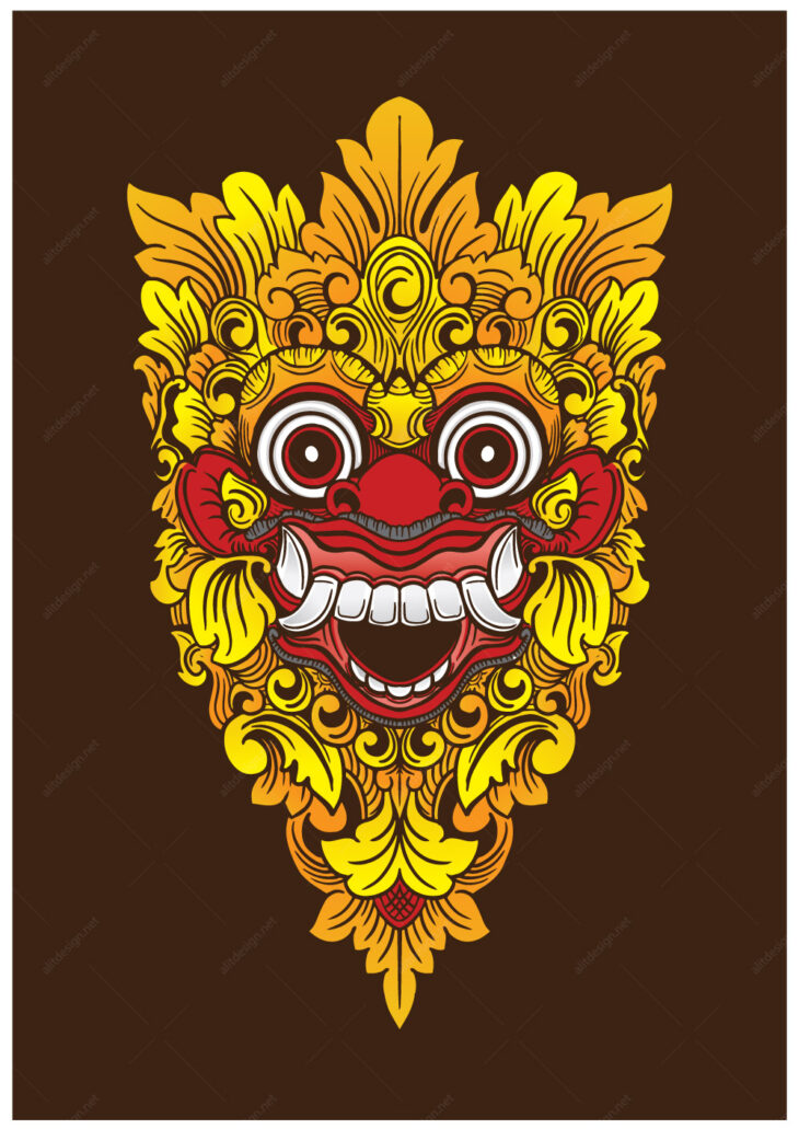 picture of Barong Mask Vector Color