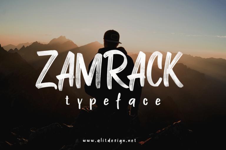 Preview image of ZAMRACK Font