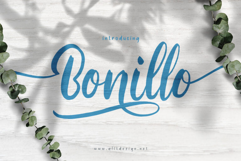 Preview image of Bonillo font