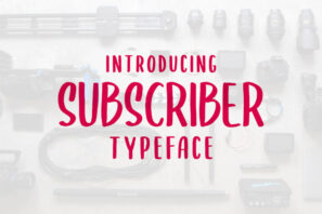 SUBSCRIBER font