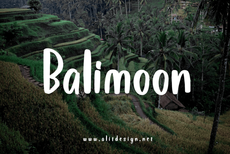 Preview image of Bali Moon font