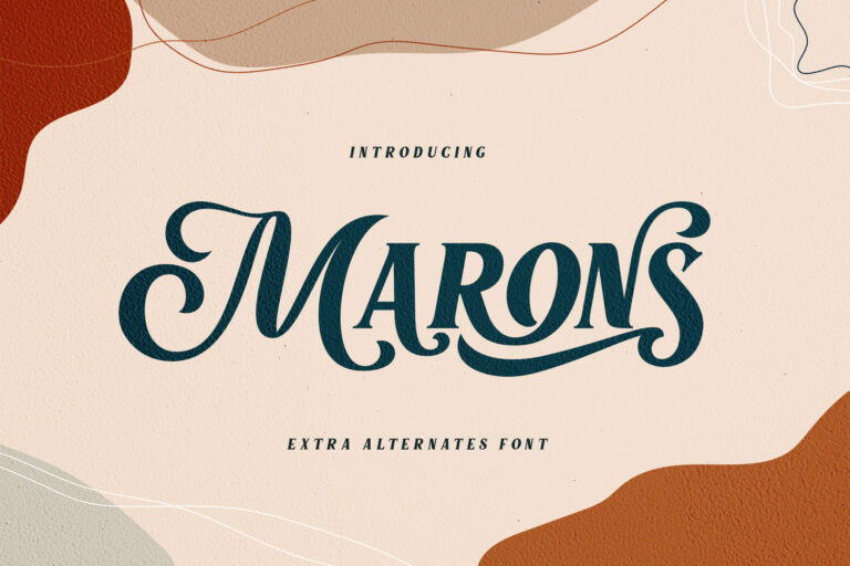 Preview image of Marons Font