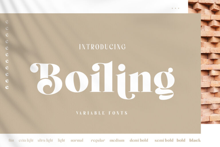 Preview image of Boiling Variable Font