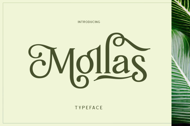 Preview image of Mollas Typeface