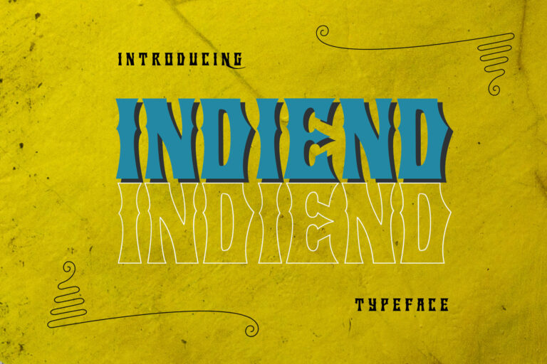 Preview image of INDIEND Typeface