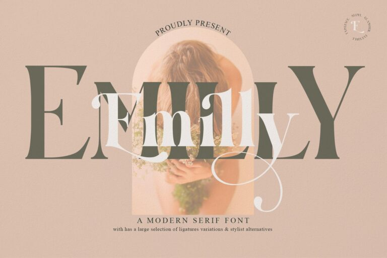 Preview image of Emelly Typeface