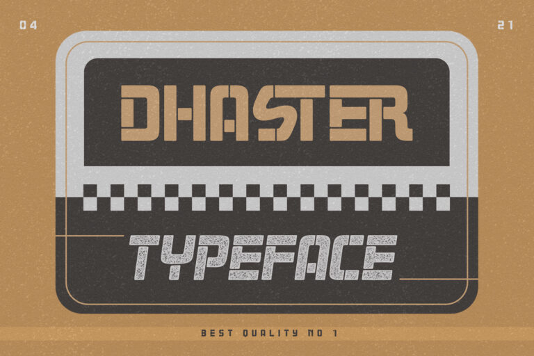 Preview image of Dhaster Typeface