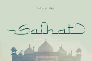 Saihat Arabic Typeface