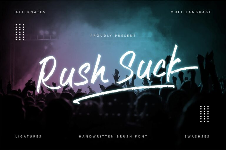 Preview image of Rush Suck Font