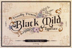 Black Mild Typeface