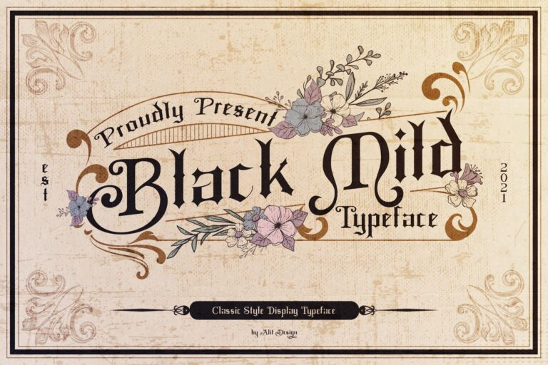 Preview image of Black Mild Typeface