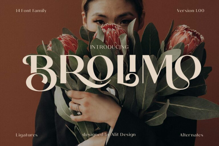 Preview image of Brolimo Typeface