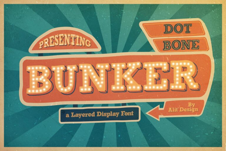 Preview image of Bunker Typeface