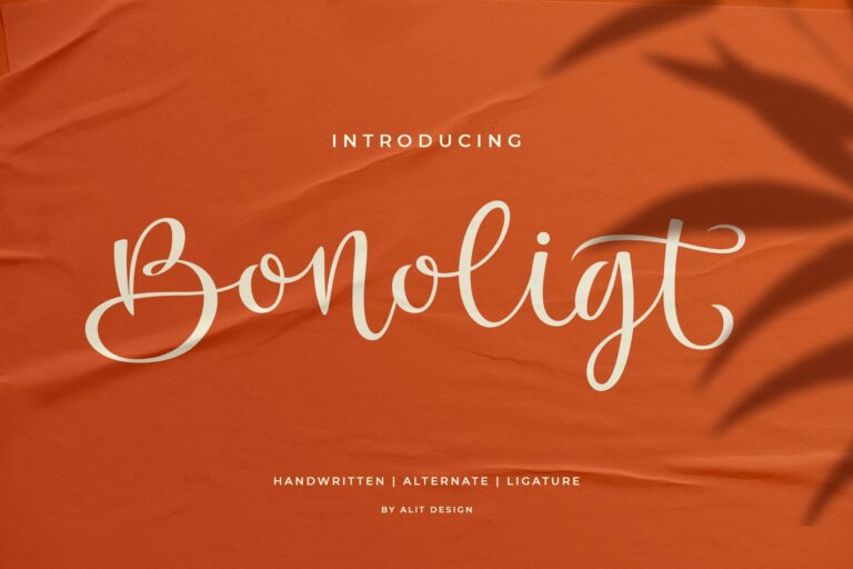 Preview image of Bonoligt Typeface