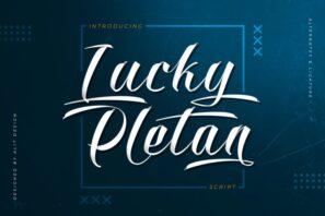 Lucky Pletan Typeface
