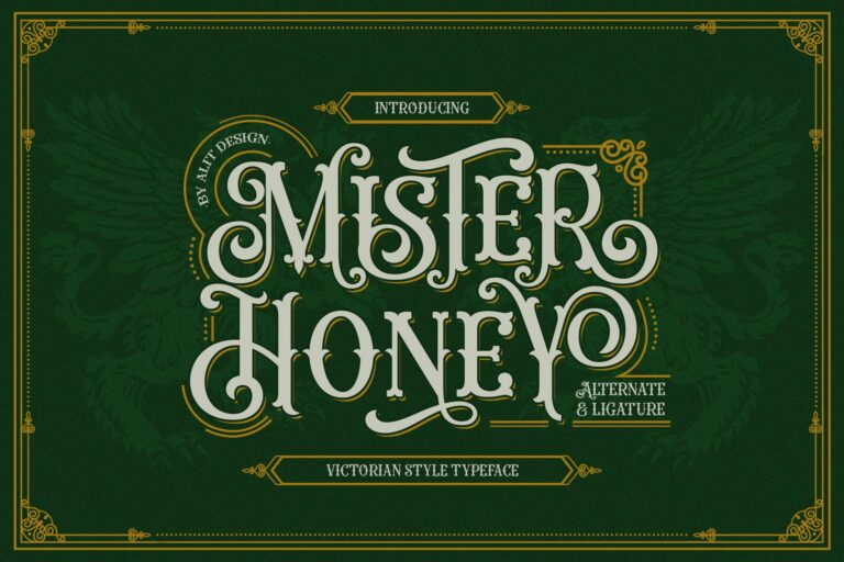 Preview image of Mister Honey Typeface
