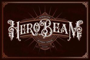 Hero Beam Typeface