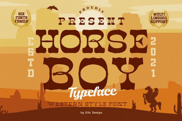 Preview image of Horse Boy Typeface
