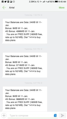 Airtel Free 4GB Data