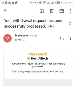 metowork approval