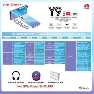 Huawei Y9s pre-order