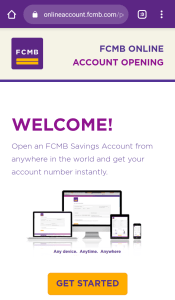 FCMB online Bank welcome
