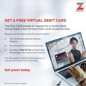 Zenith bank free atm card zenith virtual atm card