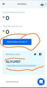 Cowrywise referral link and code