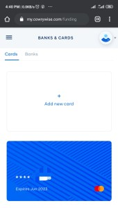 Cowrywise Atm card linked