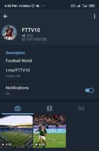 How to watch football online on telegram
