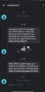 Airtel TV Free Data