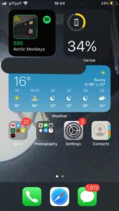 how to add Spotify widget ios 14