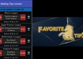 Favorite Betting Correct Score tips